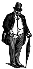 wood-engraving print: Mr Clavering for The Runaway